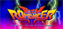 Title screen of Tech Romancer on the Arcade.