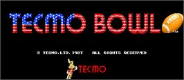 Title screen of Tecmo Bowl on the Arcade.