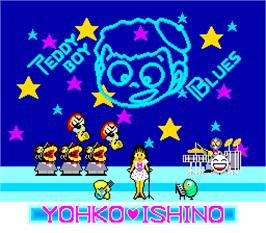 Title screen of TeddyBoy Blues on the Arcade.