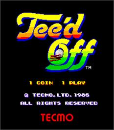 Title screen of Tee'd Off on the Arcade.