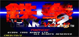 Title screen of Tekken 2 Ver.B on the Arcade.