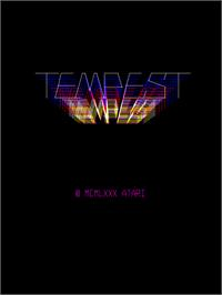 Title screen of Tempest on the Arcade.