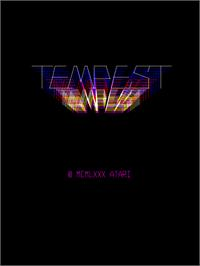 Title screen of Tempest Tubes on the Arcade.