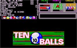 Title screen of Ten Balls on the Arcade.