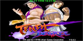 Title screen of Tenth Degree on the Arcade.