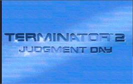 Title screen of Terminator 2 - Judgment Day on the Arcade.