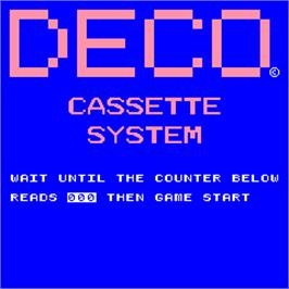 Title screen of Test Tape on the Arcade.