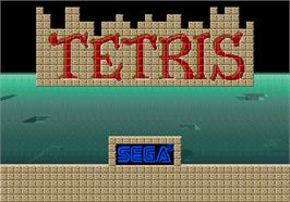 Title screen of Tetris on the Arcade.