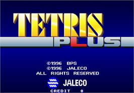 Title screen of Tetris Plus on the Arcade.
