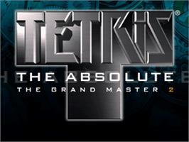 Title screen of Tetris the Absolute The Grand Master 2 on the Arcade.