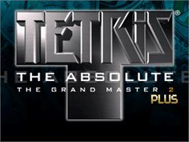 Title screen of Tetris the Absolute The Grand Master 2 Plus on the Arcade.