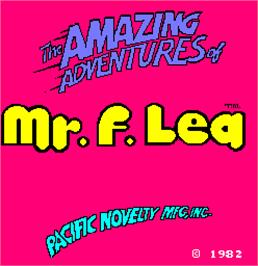Title screen of The Amazing Adventures of Mr. F. Lea on the Arcade.