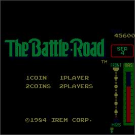 Title screen of The Battle-Road on the Arcade.