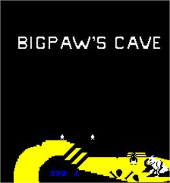 Title screen of The Berenstain Bears in Big Paw's Cave on the Arcade.