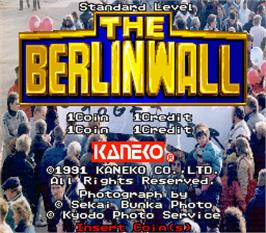 Title screen of The Berlin Wall on the Arcade.