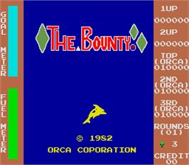 Title screen of The Bounty on the Arcade.