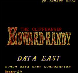 Title screen of The Cliffhanger - Edward Randy on the Arcade.