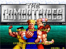 Title screen of The Combatribes on the Arcade.