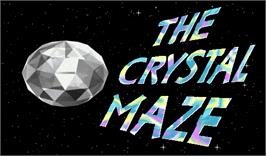 Title screen of The Crystal Maze Team Challenge on the Arcade.