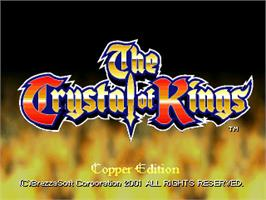 Title screen of The Crystal of Kings on the Arcade.