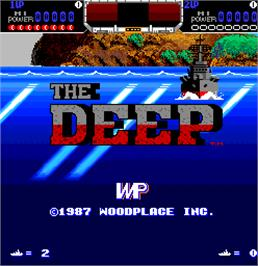 Title screen of The Deep on the Arcade.