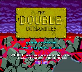 Title screen of The Double Dynamites on the Arcade.