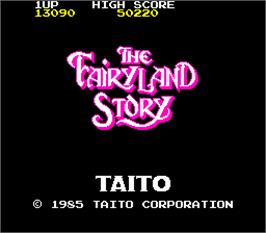 Title screen of The FairyLand Story on the Arcade.
