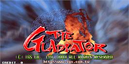 Title screen of The Gladiator on the Arcade.