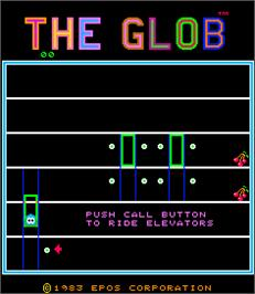 Title screen of The Glob on the Arcade.
