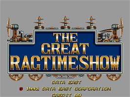 Title screen of The Great Ragtime Show on the Arcade.