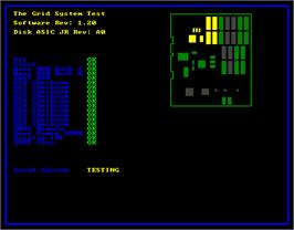 Title screen of The Grid on the Arcade.