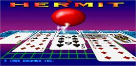 Title screen of The Hermit on the Arcade.
