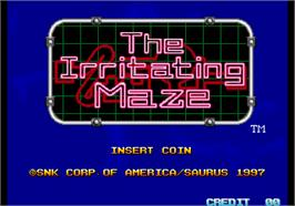 Title screen of The Irritating Maze / Ultra Denryu Iraira Bou on the Arcade.