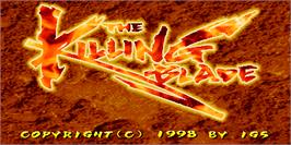 Title screen of The Killing Blade on the Arcade.