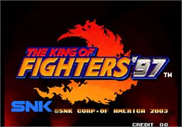 Title screen of The King of Fighters '97 Plus on the Arcade.