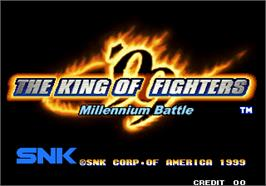 Title screen of The King of Fighters '99 - Millennium Battle on the Arcade.