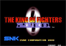 Title screen of The King of Fighters 2000 on the Arcade.