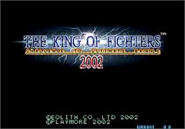 Title screen of The King of Fighters 2002 on the Arcade.