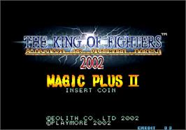Title screen of The King of Fighters 2002 Magic Plus II on the Arcade.