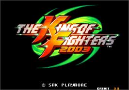 Title screen of The King of Fighters 2003 on the Arcade.