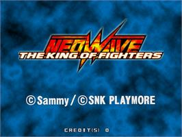 Title screen of The King of Fighters Neowave on the Arcade.