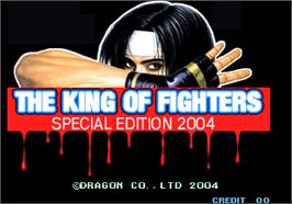 Title screen of The King of Fighters Special Edition 2004 on the Arcade.