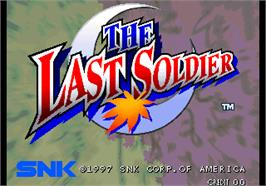 Title screen of The Last Soldier on the Arcade.