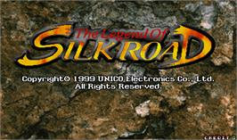 Title screen of The Legend of Silkroad on the Arcade.