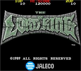 Title screen of The Lord of King on the Arcade.