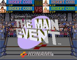 Title screen of The Main Event on the Arcade.