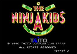 Title screen of The Ninja Kids on the Arcade.