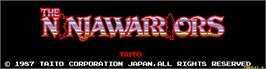 Title screen of The Ninja Warriors on the Arcade.