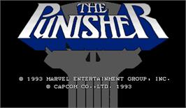 Title screen of The Punisher on the Arcade.