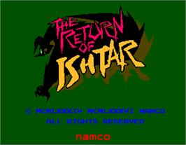 Title screen of The Return of Ishtar on the Arcade.